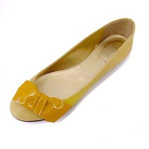 J. Crew Lulu Leather Yellow Honey Ballet Flat NEW